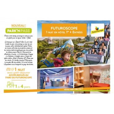 Coffret Cadeau Park'n Pass Séjour Parc du Futuroscope Hôtel Parc Pirate 1* 1 Nuit