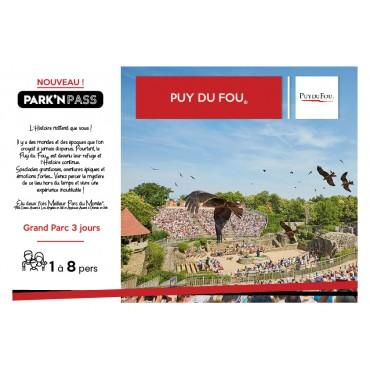 Park'n Pass Puy Du Fou 3 Jours