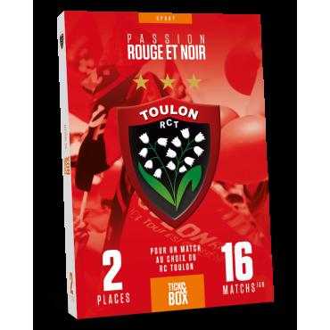 Coffret Cadeau Tick'nBox RC Toulon 1 Match